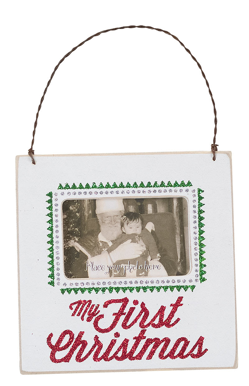 My First Christmas Fancy Frame Ornament By Primitives By Kathy