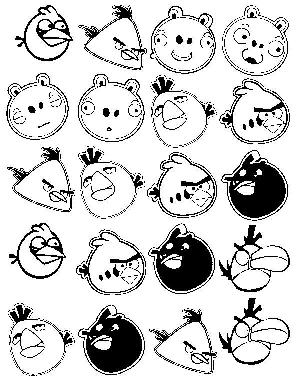 Dibujos Para Colorear Angry Birds Morning Kids