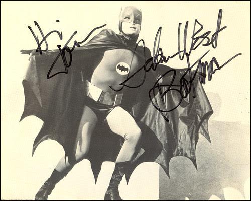 Autographed Adam West Photo