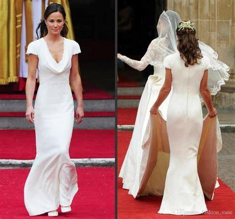 Celebrity Pippa Middleton Bridesmaid Dresses 2017 Deep V