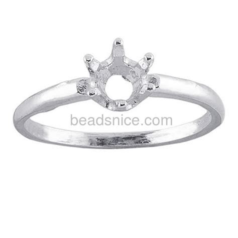 Wholesale Engagement ring base 6 prong ring blanks