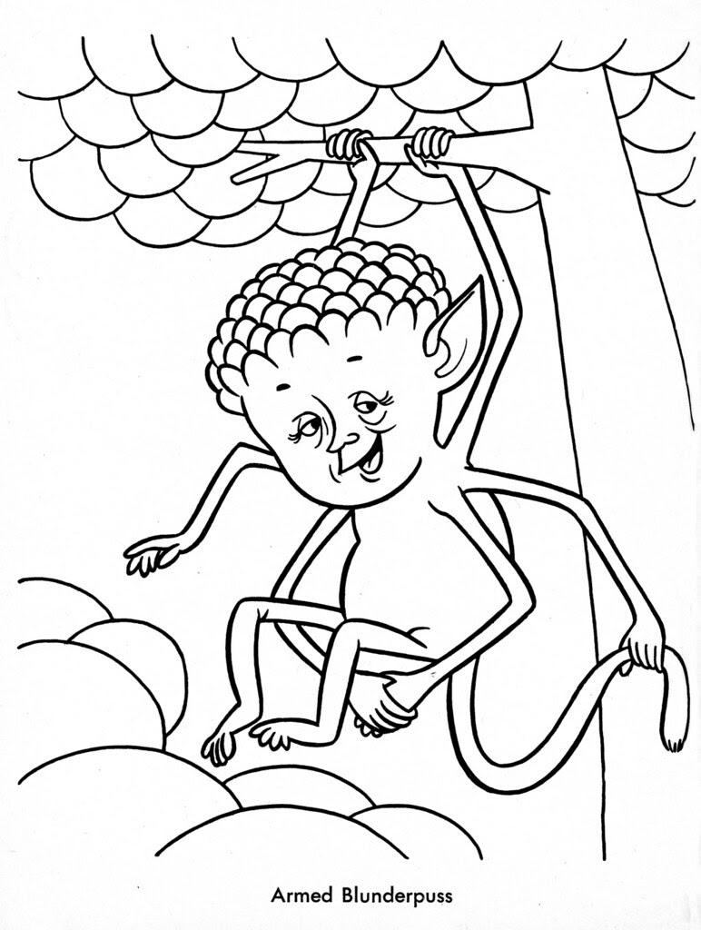 Funny Monsters Coloring Book (Treasure Books, 1965) 11