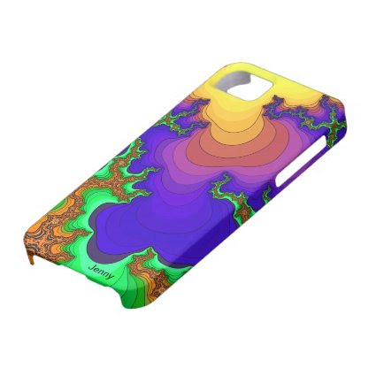 Psychedelic Lava Flow Fractal iPhone Case iPhone 5 Cover