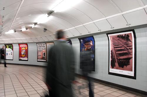 Art Below poster at Marylebone Tube