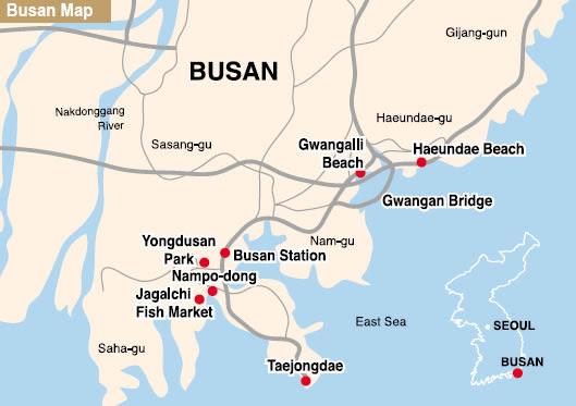 Pusan Map And Pusan Satellite Image