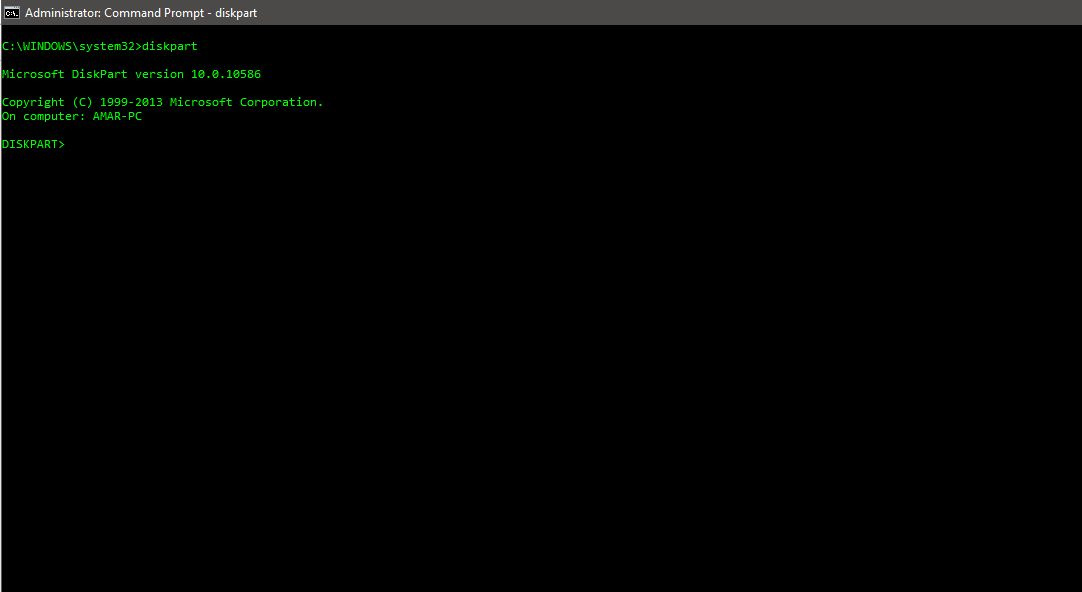 Diskpart to hide any drive in Windows using command prompt