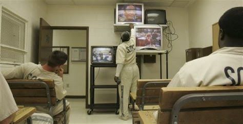 Image result for prison inmates watching TV