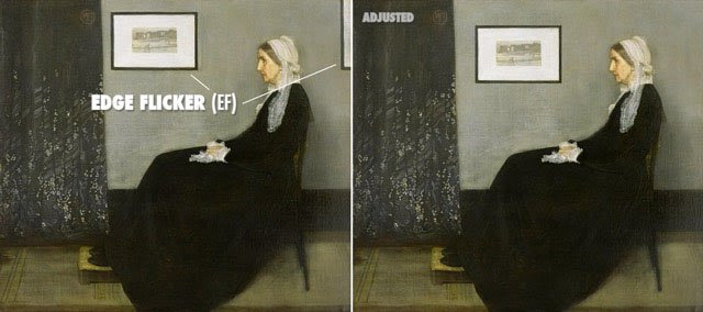 Painting by Whistler showing no Edge Flicker when Adjusted.
