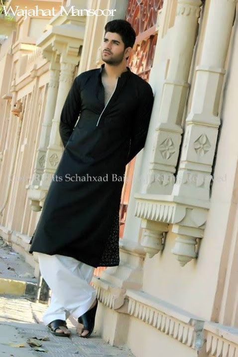 Wajahat-Mansoor-Latest-Summer-Eid-Kurta-Pajama-Salwar-Kameez-Collection-2013-Mens-Boys-5