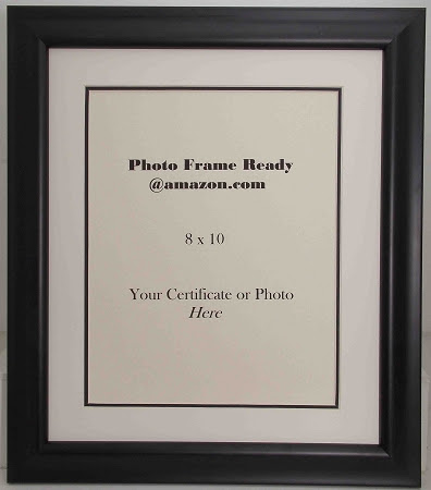 Wall Mount Black Wood Photo Frame With 8x10 Opening For Certificate
