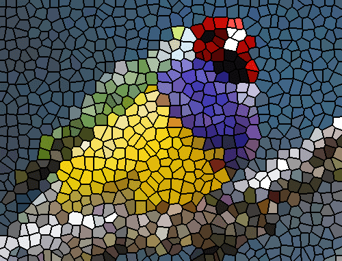 Stained Glass Effect Using Average Color Imagemagick