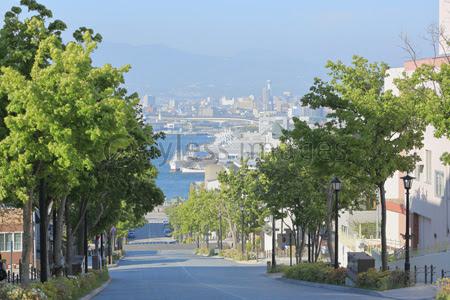函館の坂道の写真イラスト素材 写真素材ストックフォトの定額制