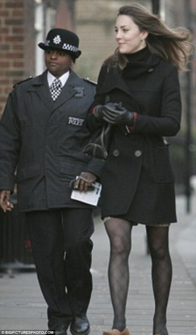 Ricky Haruna (left) used to escort Kate Middleton  to her car but claims she was fired from the force after complaining about racism