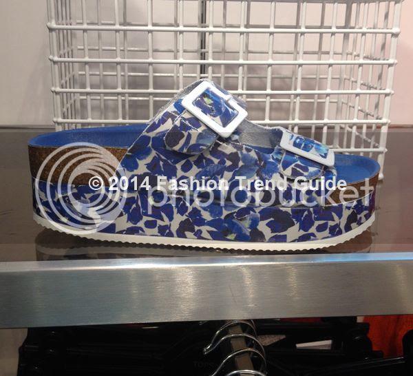 Topshop Fang blue floral double buckle sandal