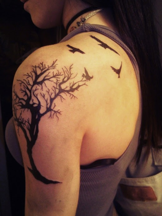 The Meaning Of Tree And Lovely Birds Tattoo Designs Tattoomagz
