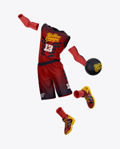 Download Basketball Uniform Front View Jersey Mockup PSD File 55.11 MB