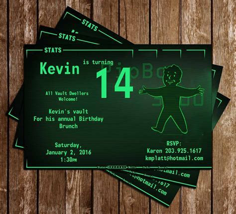 Novel Concept Designs   Fallout 4 Pipboy Birthday Party