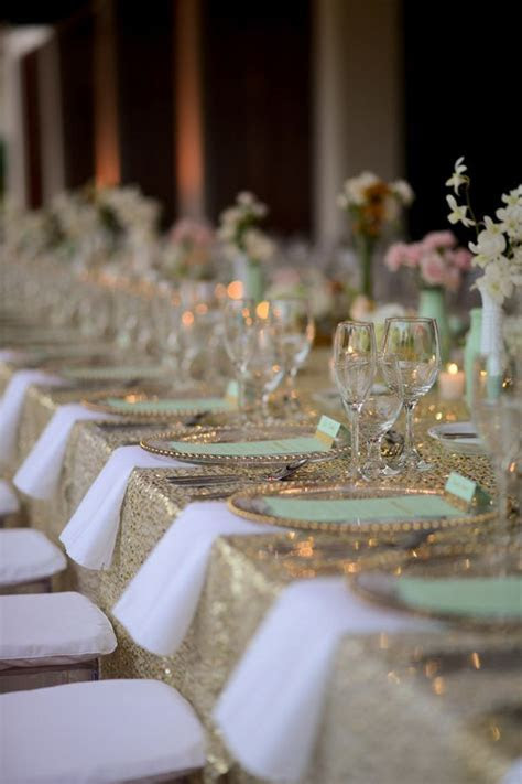 115 best images about MINT & GOLD WEDDING on Pinterest