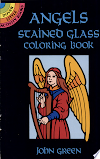 Download Angels Stained Glass Coloring Book