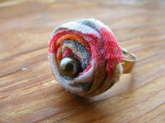 Ring Rose N Pearl