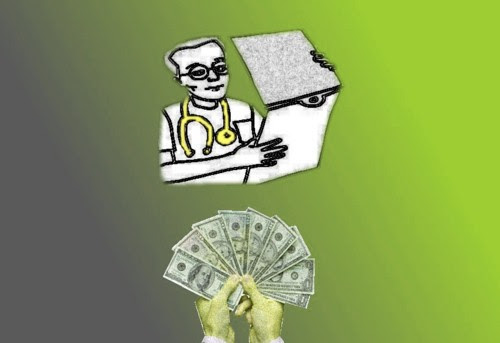 Graphic on doctor and money
