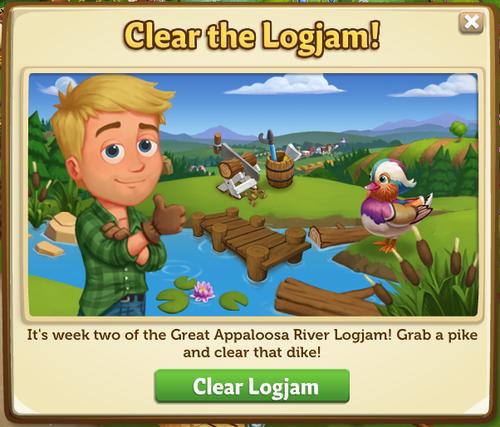 The Great Appaloosa River Logjam - FarmVille 2