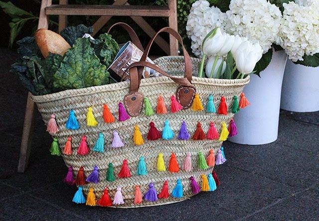 Декор соломенной сумки (Diy)