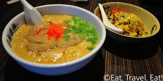 Shin-Sen-Gumi Hakata Ramen- Fountain Valley, CA: C Set- Hakata Ramen and Takana Fried Rice