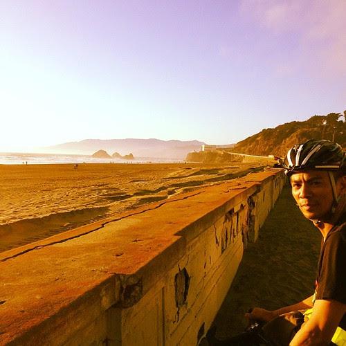 Ocean beach with Ely
