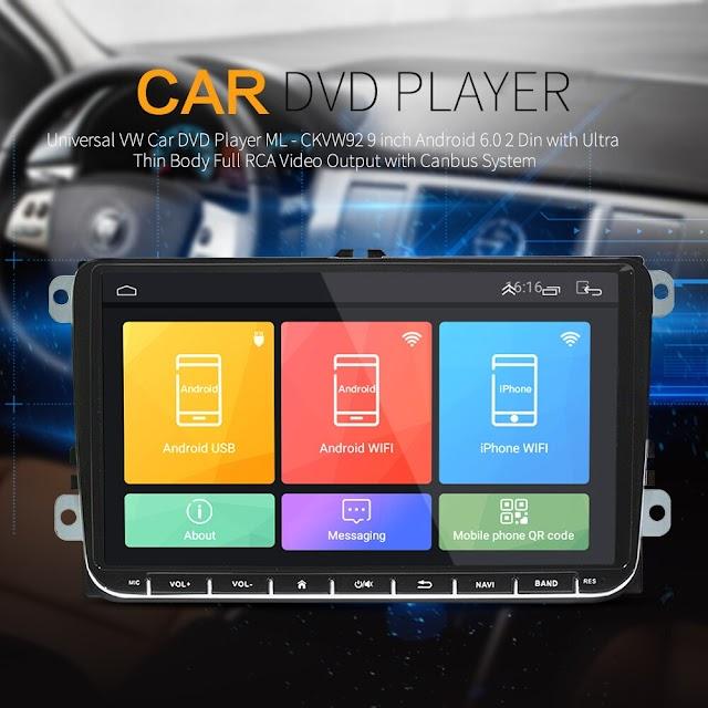 Kopen Goedkoop Universele VW Auto DVD Speler ML CKVW92 9 Inch Android 6.0 2 Din Met Ultra Dunne Lichaam Volledige RCA Video uitgang Canbus Systeem Online