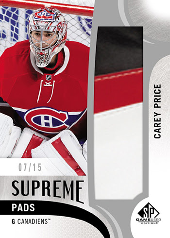 2017-18 SP Game Used Hockey Supreme Pads Carey Price