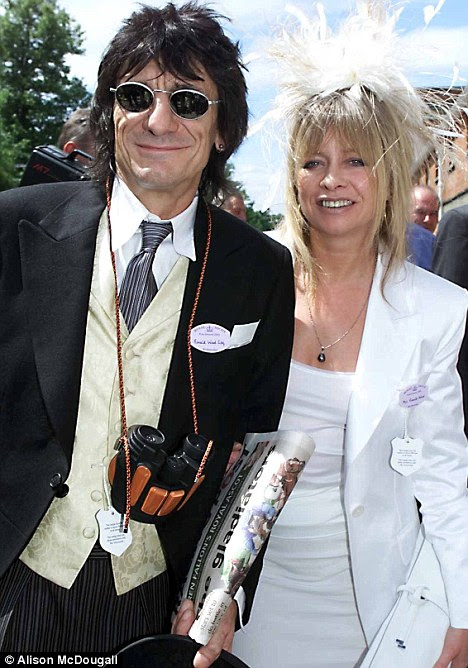 Long-term love: Ronnie was married to Jo, now 55, for 23 years