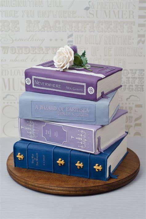 Stack of Books Wedding Cake   Cake by Joanna Rose   CakesDecor