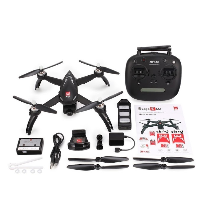 MJX Bugs 5W B5W Brushless Motor GPS FPV RC Drone Quadcopter with Adjustable 5G WIFI 1080P Camera Follow Me Hovering