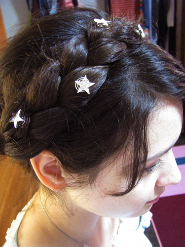 Second: the crown braid