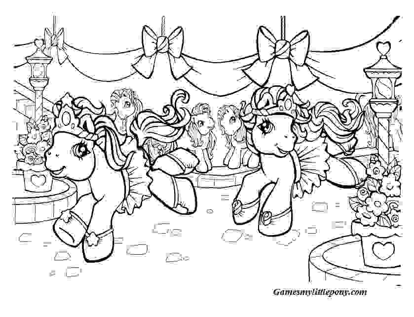 My Little Pony Christmas Coloring Pages For Kids - Drawing With Crayons