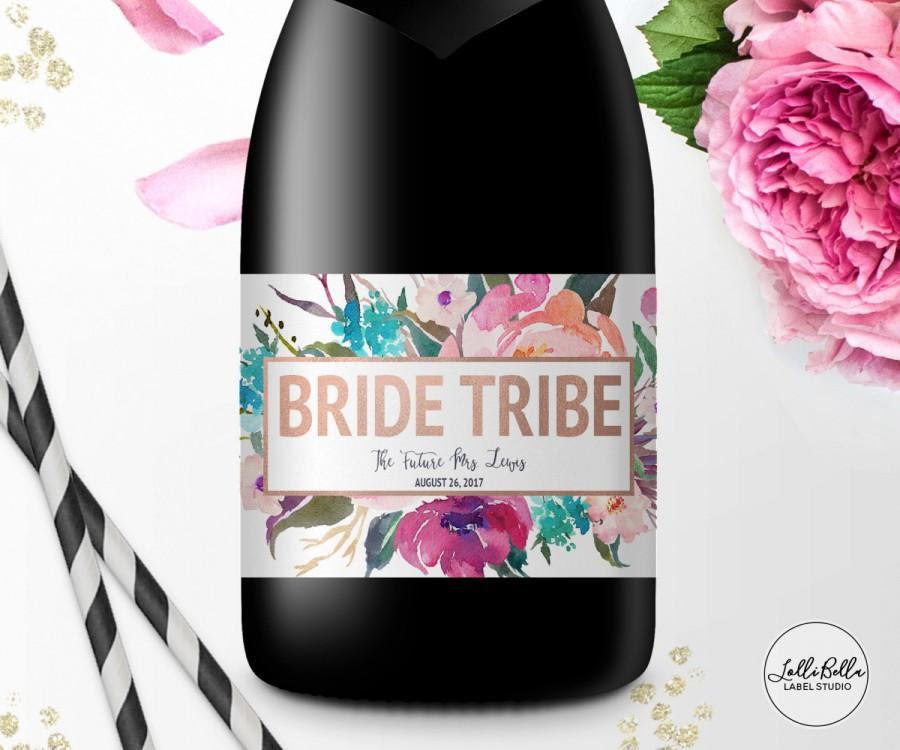 Bride Tribe Mini Champagne Label Mini Wine Label Bachelorette