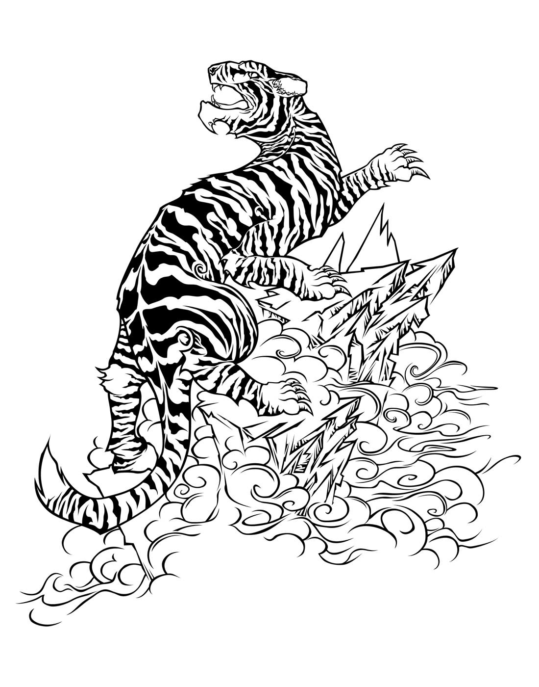 Tiger Butterfly Tattoo Design In 2017 Real Photo Pictures Images