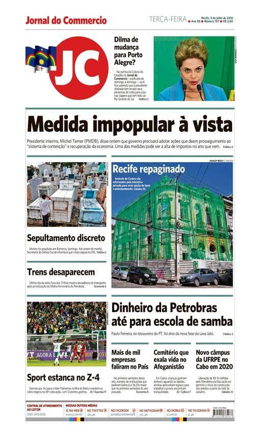 Capa do Jornal - 05/07/2016