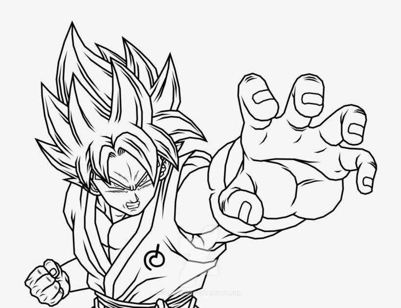 Coloring and Drawing: Goku Super Saiyan Blue Kaioken ...