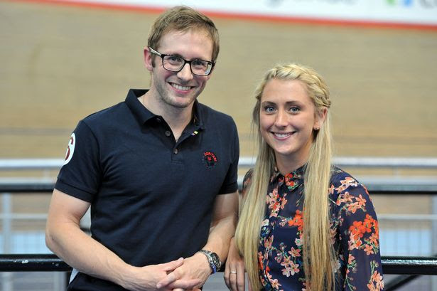 Jason Kenny and Laura Trott who were the guests of honour at the Revolution Series Cycling event at the Velodrome.