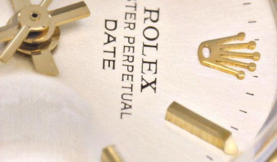 Foto 3, ROLEX DATE DAMEN-UHR STAHL-GOLD OYSTER PERPETUAL TOPUHR, U1286