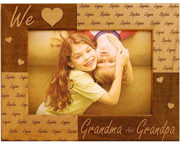 Personalized We Love Grandparents Frame Name Picture Frames