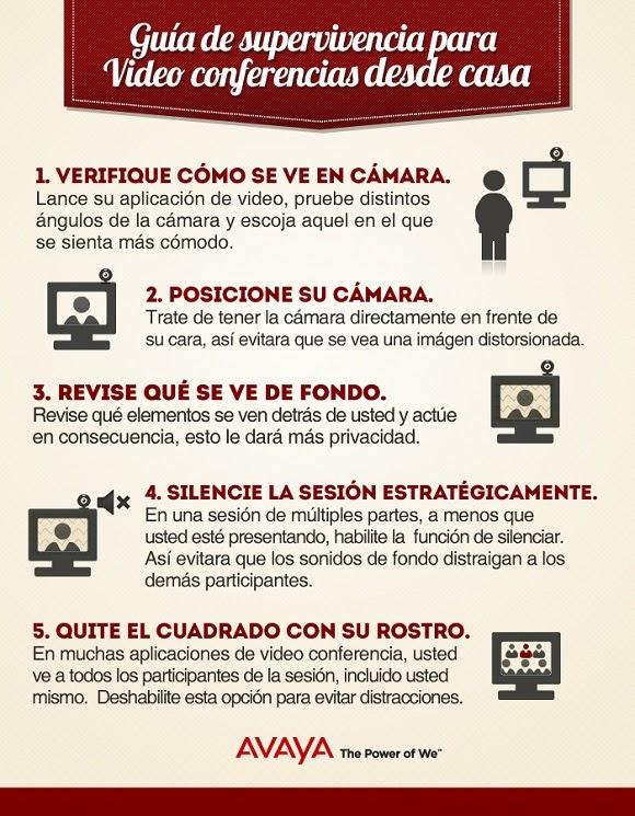 Guía de supervivencia para video conferencias desde casa (Infografía)