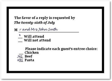 How to Fill Out A Wedding RSVP Card   Wedding Stuff