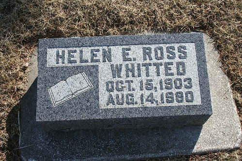 Tombstone of Helen E. Ross-Whitted