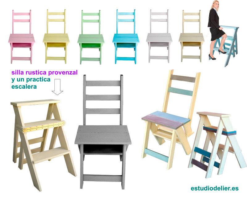 sillas escalera de madera