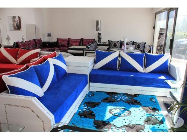 لعشاق اللون الأزرقاخر صيحات الطلامط للصالون المغربي موقع يالالة