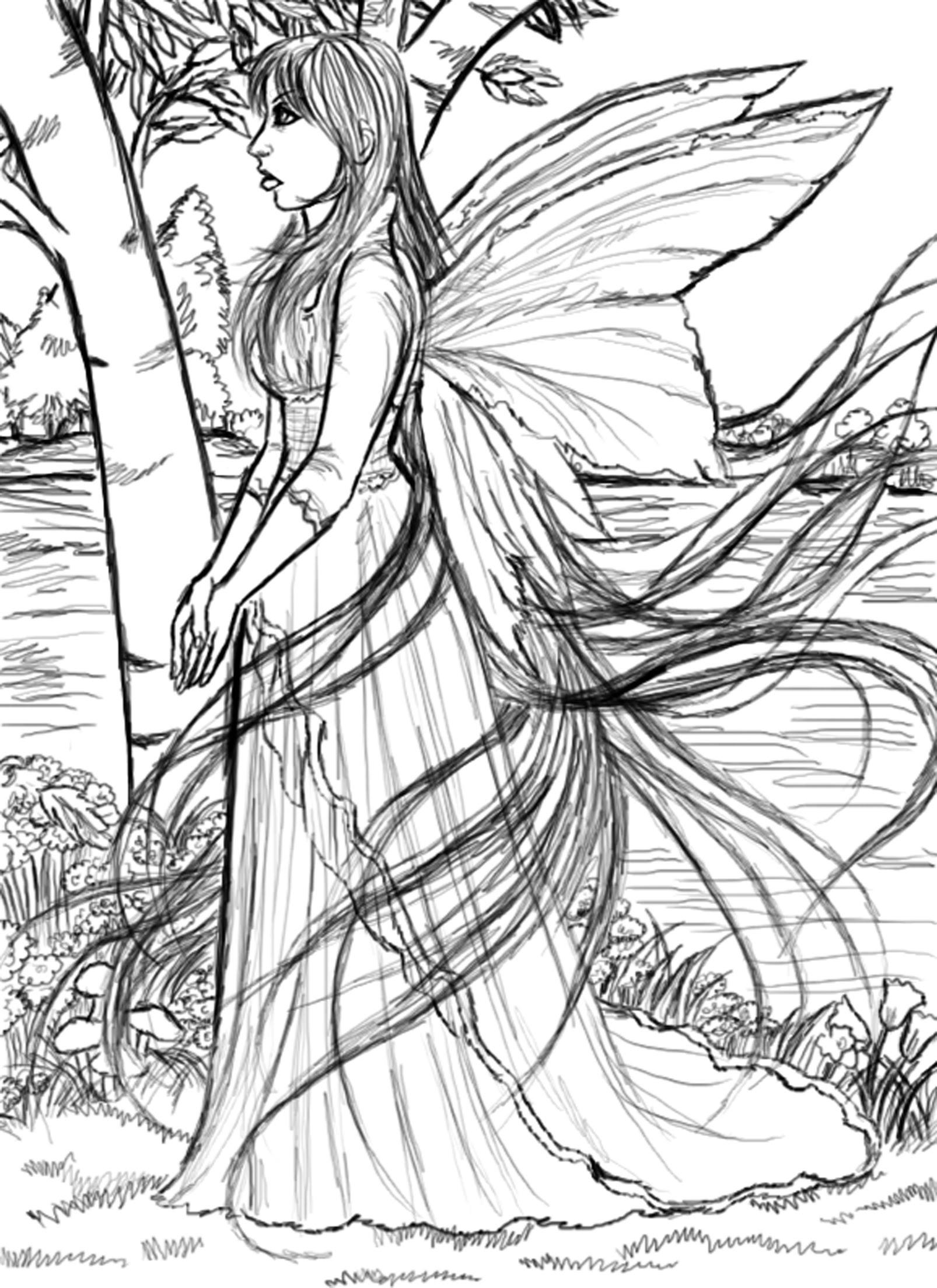 Day #42 Moon Light Fairy - I 365 Art