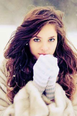 I love snowflakes in people's hair. It looks beautiful